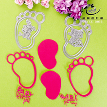 2016 Baby Little Feet die cutts Metal cutting dies stencils for DIY Scrapbooking/photo album Decorative Embossing Cards