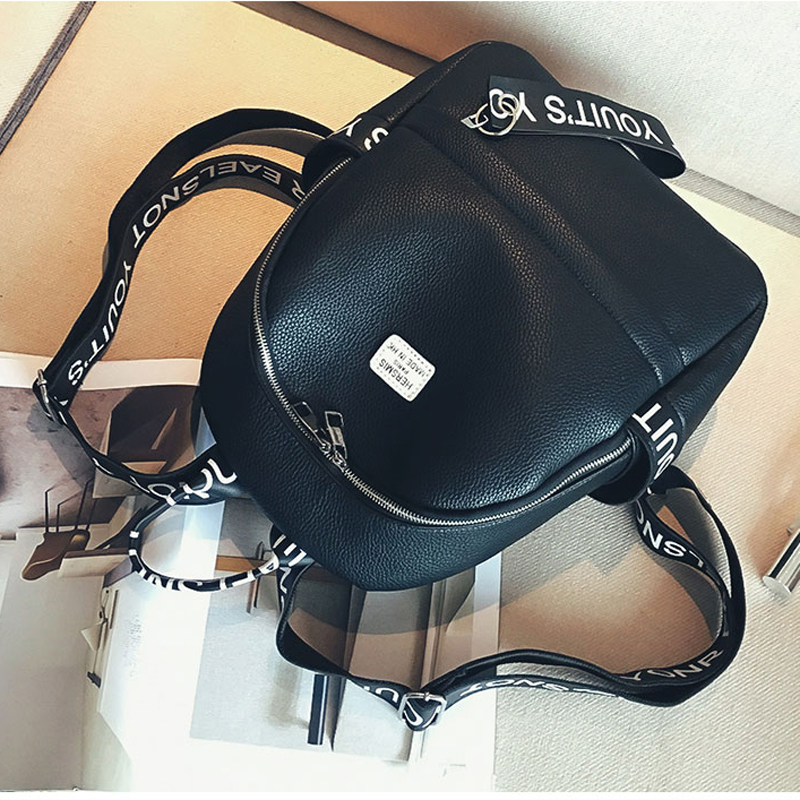 Jiessie&Angela Women PU Leather Bag School Bags for Teenagers Women Travel Backpack Mochila Feminina Casual Girls Bakcpacks