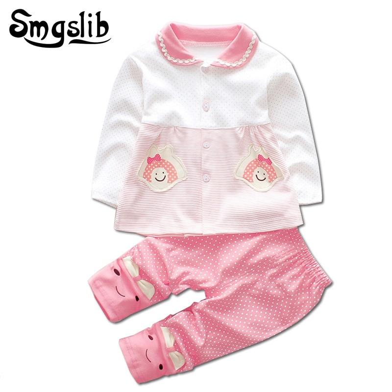 92d5c6aaf0d2c Smgslib bébé fille vêtements Pull Tops Casual Pantalon 2 pcs Outfit Coton infantile  Bébé Survêtement Ensemble nouveau-né bébé garçon vêtements ensemble