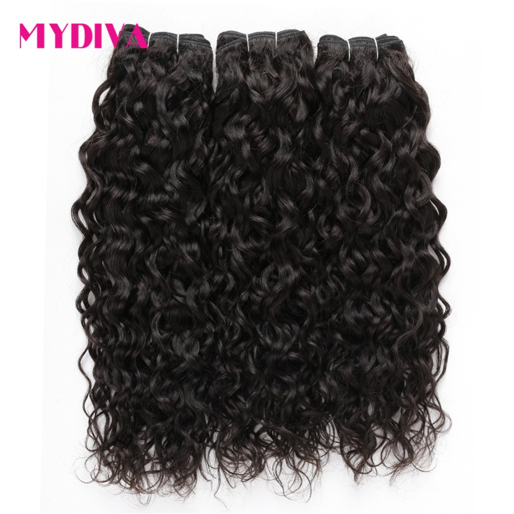 Brazilian Water Wave Human Hair 3 Bundles Deals Natural Color Wet And Wavy 100 Non Remy