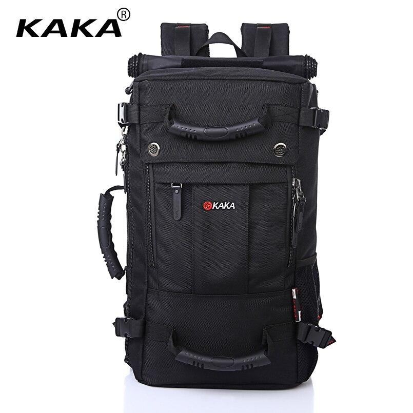 KAKA Brand Stylish Waterproof Large Capacity Backpack Male Luggage Travel Shoulder Bag Computer Backpack Men Multifunctional