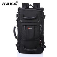 KAKA Marke Stilvolle Wasserdichte Große Kapazität Rucksack Männlichen Gepäck Reise Umhängetasche Computer Rucksack Männer Multifunktionale Tasche