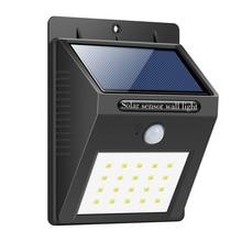 hot Solar Panel LED Flood Security Solar Garden Light PIR Motion Sensor 20 LEDs Path Wall Lamps Outdoor Emergency Waterproof Lam