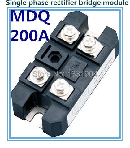 Hot sale 200A Single phase Bridge Rectifier Module MDQ 200 welding type used for input rectifying power supply mds150 10 generator welding rectifier bridge rectifier bridge silicon power rectifier bridge rectifier generator
