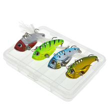 4Pcs/Box 10g fishing lure VIB Vibrations Spoon Lure Bass wobblers artificial bait cicada vib