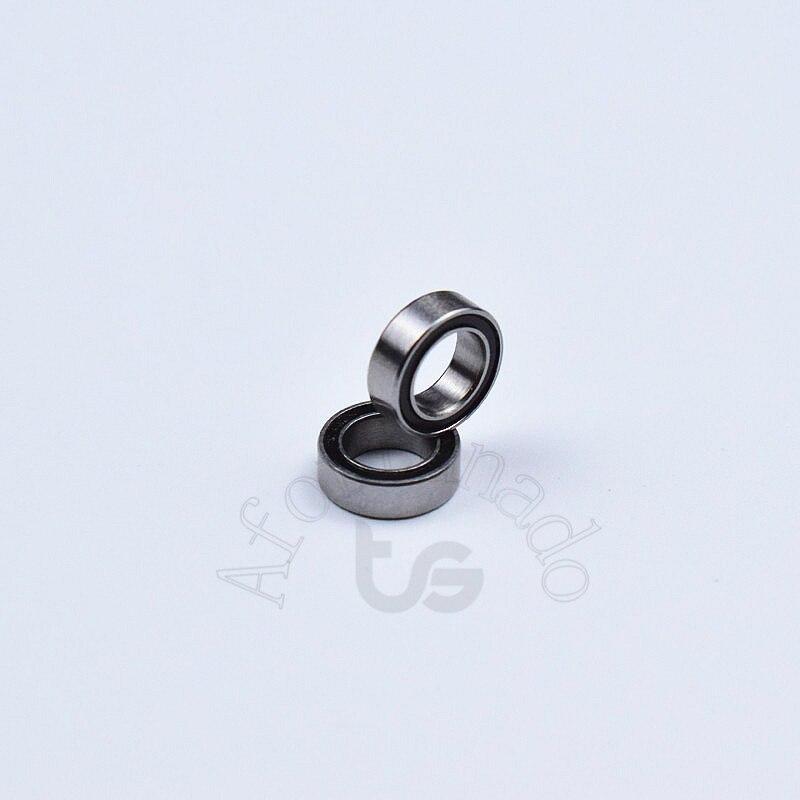 Купить с кэшбэком MR85RS 5*8*2.5(mm) 10pieces bearing rubber sealed free shipping ABEC-5 chrome steel miniature bearings  Transmission Parts