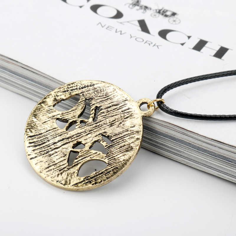 Boys Girls Choker Necklace Skyrim Tree of Life Pentagram Pentacle Triple Moon Wicca Necklaces Pendants Vintage Jewelry
