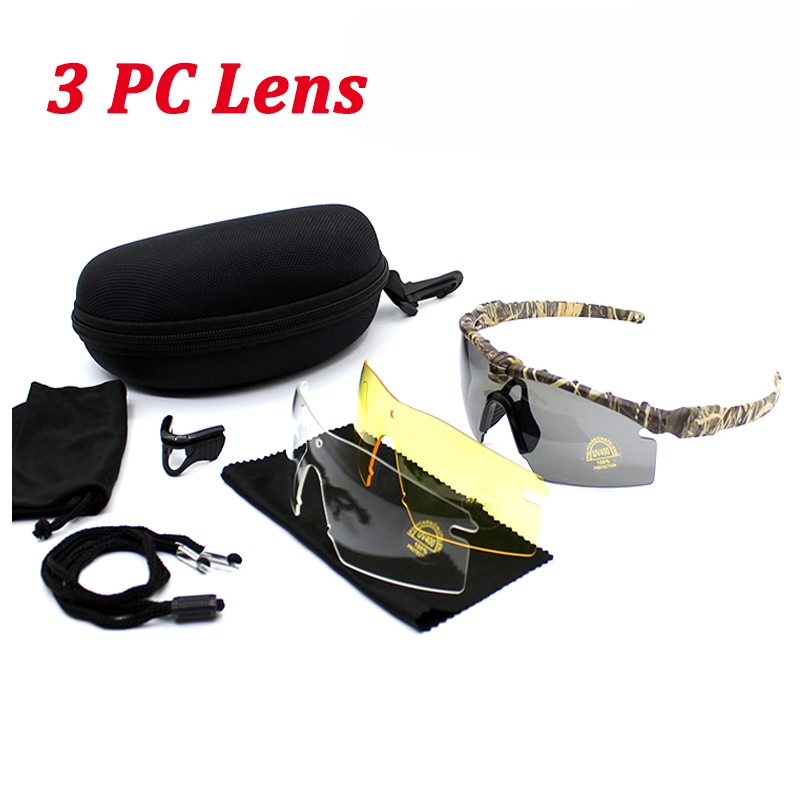 Tactical Army Glasses Mens Outdoor Hunting Airsoft Sport Polarized Sunglasses Military Goggles Hiking