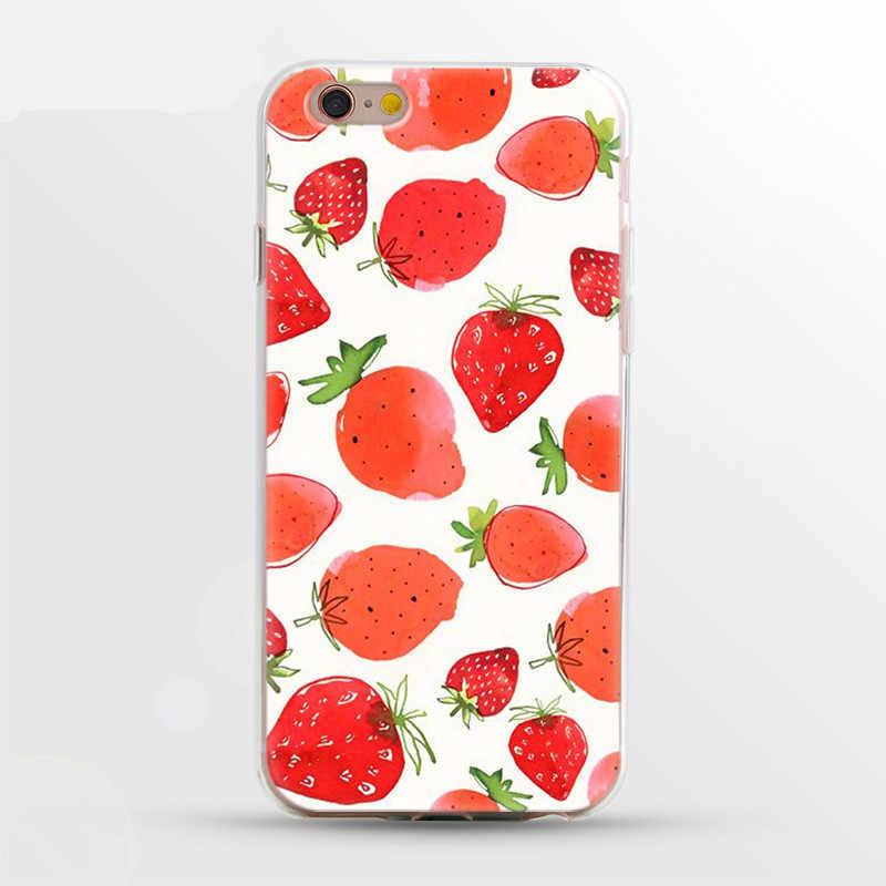 حافظة هاتف من تي بي يو حقيبة لهاتف أي فون 5 6 6S 7 7Plus 8 8Plus X XS أزهار لطيفة غطاء بلاستيكي منقوش لهاتف آيفون 7