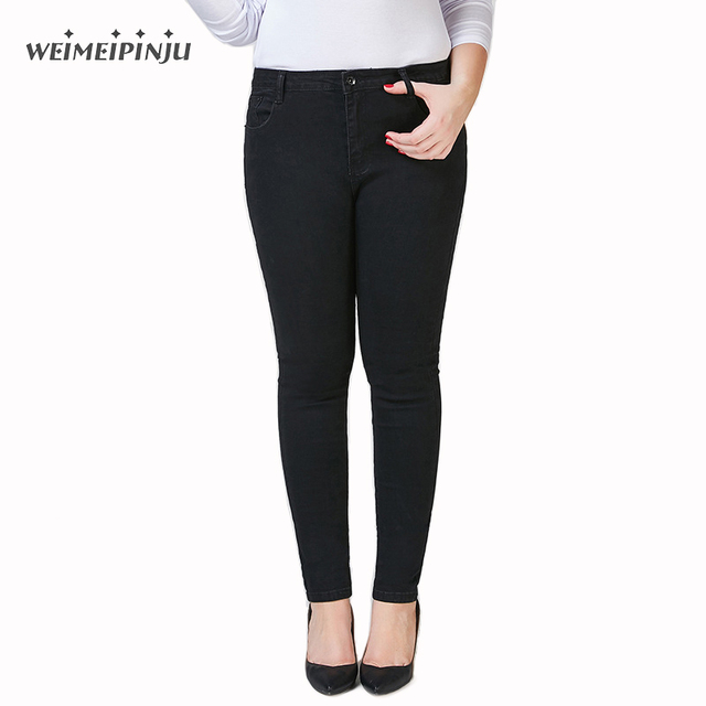d185d08d7070f Women High Waist Jeans Autumn Fashion Female Denim Overalls Blue Mom Jeans  Stretch Plus Size Pencil Croped Jeans Push Up Mujer