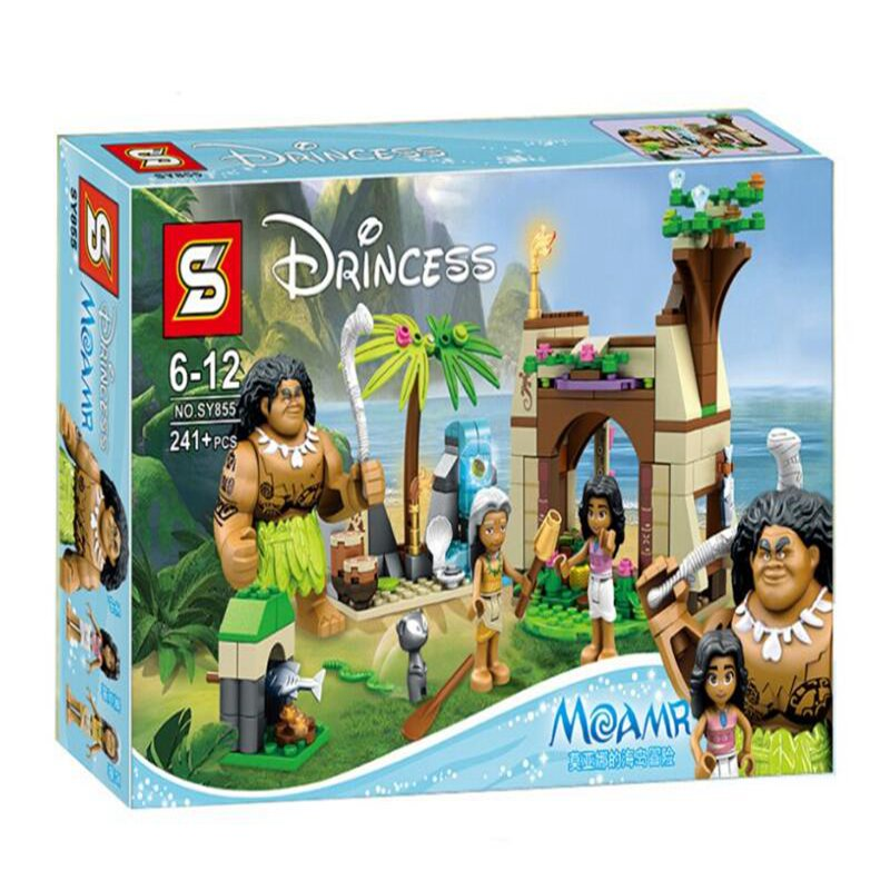 SY855 Princess Moana Ocean Voyage Building Blocks Classic Model Toys Moana Building Compatible lepin with  Blocks Children Gift lepin 02012 city deepwater exploration vessel 60095 building blocks policeman toys children compatible with lego gift kid sets