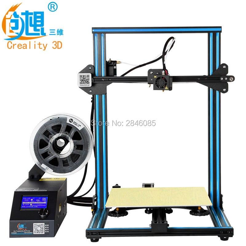 CREALITY 3D CR-10S 3D impresora con filamento Monitor Dual actualización tornillo eje Z tamaño de impresión grande 300x300 x 400mm