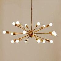 Vintage Brass Sputnik Pendant Lights Modern Light Pendant Lamp Living Room Home Deco Hanging Light Kitchen Fixture Luminaire Art