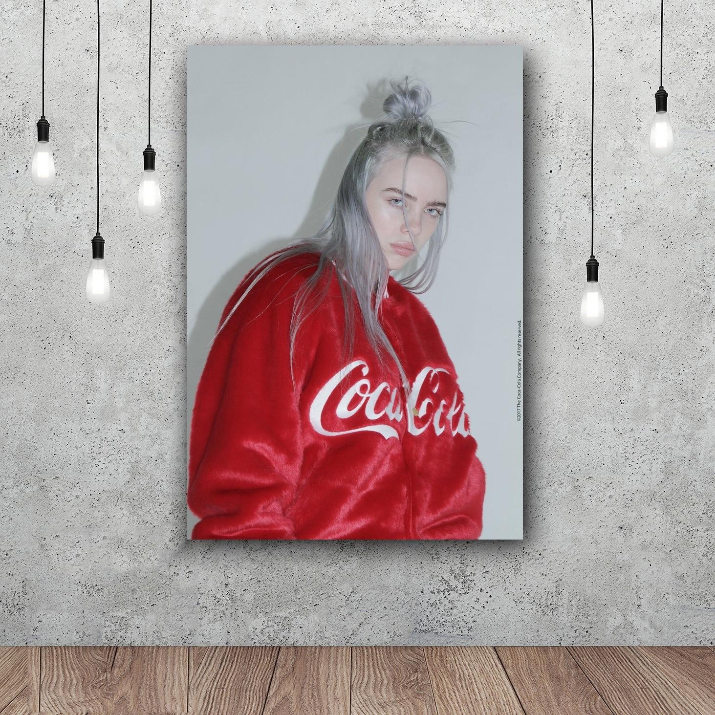 Custom Silk Poster Wall Decor Billie Eilish