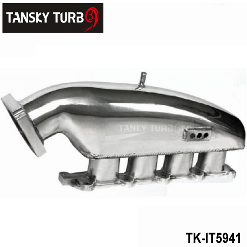 TANSKY - For MITSUBISHI EVO 1-3 Cast Aluminum Turbo Intake Manifold Polished JDM high Performance TK-IT5941