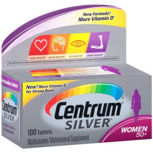 Centrum Серебра Женщин 50 + Поливитамины и Парентерального Дополнение Таблетки, 100 ct