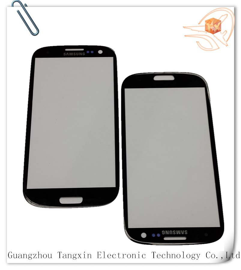 Black/white/red/pink color cell Phone Parts For Samsung s3 i9300 front glass best price with free shipping