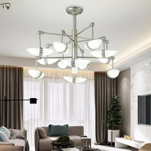 Nordic Postmodern Chandelier Led Simple Industrial Atmospheric Fashion Creative Personality Living Room Dining Modern Decor Home
