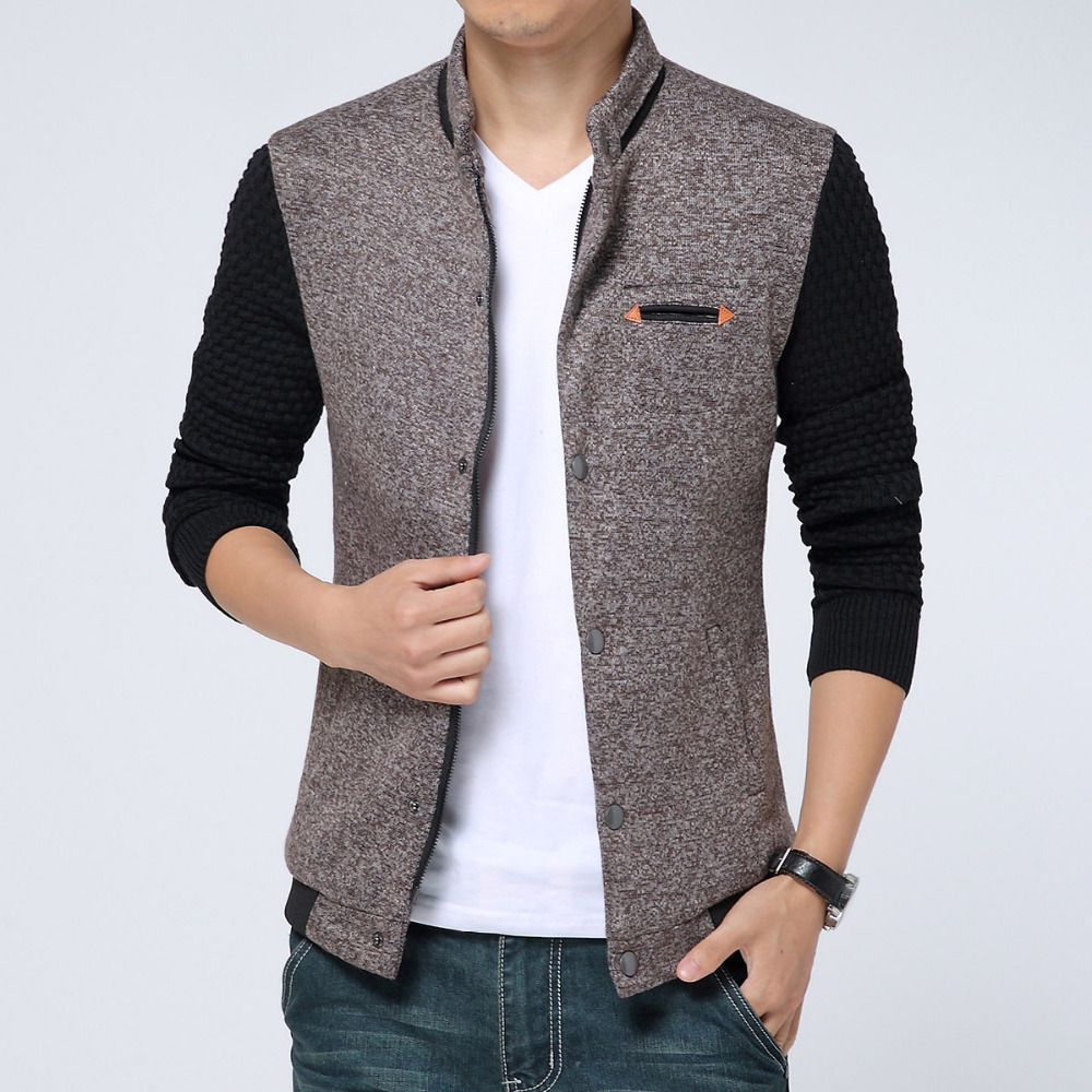 6414aeb5770 Tops For Man 2015 New Spring Mens Jackets Cotton Outwear Men s Coats Casual  Slim Style Designer Fashion Stitching Jacket 3colors