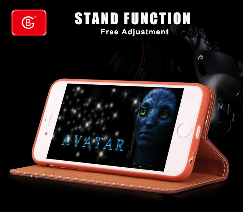 Luxury Genuine Leather Wallet Caes For iPhone 6S 7 8 Plus Phone Real Leather Shockproof 360 Full Protective Back Flip Cover Case in Flip Cases from Cellphones Telecommunications