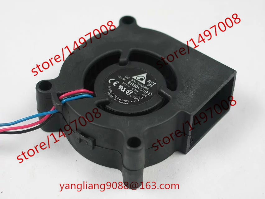 Delta BFB0512HHD F00 DC 12V 0.22A 3-wire 50X50X20mm Server Blower Cooling fan free shipping emacro sf7020h12 61as dc 12v 250ma 3 wire 3 pin connector 65mm6 server cooling blower fan