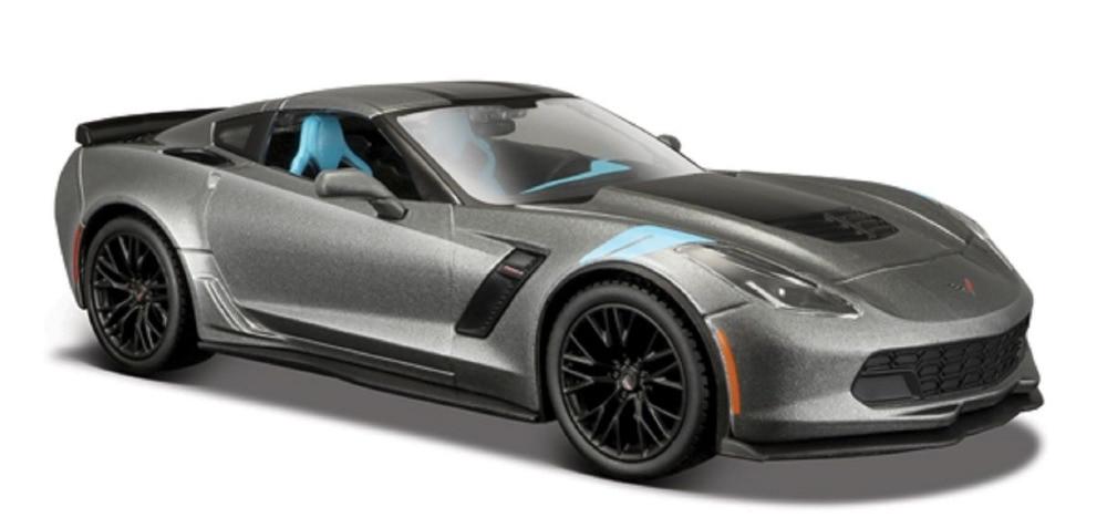 Maisto 1:24 2017 Corvette GT Grand Sport Diecast Model Racing Car Vehicle Gray NEW IN BOX maisto 1 24 nissan gtr gt r r35 tokyo mod diecast model racing car vehicle toy new in box