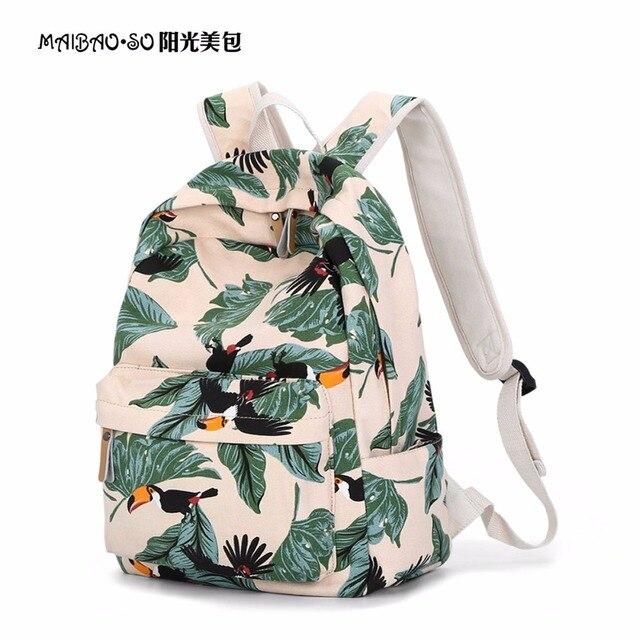 Tropical Rain Forest Toucan Bird Printing Backpack Cartoon 3d Animal