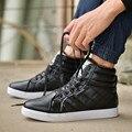 ZNPNXN Zapatos de Invierno Hombres Botas de Nieve Negro Botas Zapatos de Los Hombres tobillo Botas de Piel De Los Hombres Pisos Chaussure Homme Botas Hombre 2016