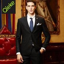 Brand Clothing 2017Latest 100%Wool men black formal wedding suits coat+pant men tuxedo men dress suits prom slim fit men suits