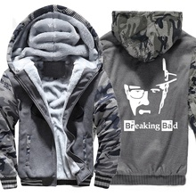 2019 Hoodies Men New Fashion Winter Sweatshirt Zipper Jackets The Breaking Bad Print Hip Hop Mens Sportswear Harajuku Hoody