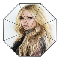 New Arrive Custom Avril lavigne Umbrellas Creative Design High Quality Foldable Rain Umbrella