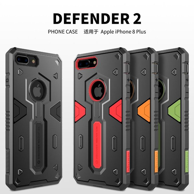 pretty nice a0a78 5dd07 US $9.74 36% OFF|For Apple iPhone 8 Plus Nillkin Defender Case Impact  Hybrid Armor Hard Protect Cover Strong For iPhone 8 Plus 5.5 Phone Cases-in  ...