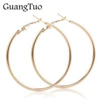 EK2088 Punk grande taille boucles d'oreilles Brincos à la mode fête exagérée or argent couleur ronde cercle boucles d'oreilles pour femmes bijoux