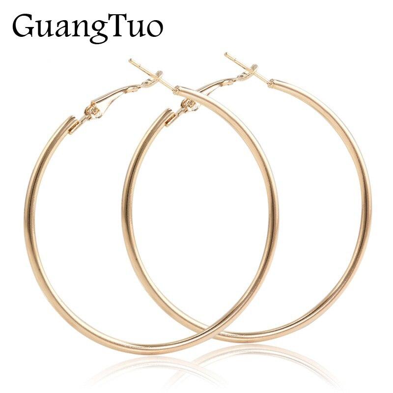 Серьги-кольца EK2088 большого размера в стиле панк, модные вечерние Крупные круглые серьги золотого и серебряного цвета для женщин, ювелирные ...