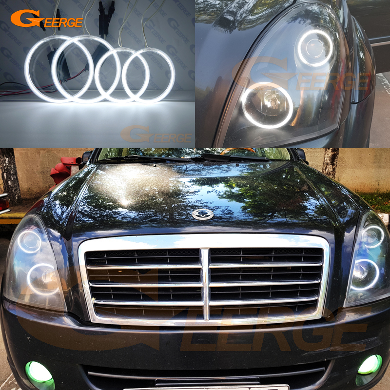 For Ssangyong Rexton 2006 2007 2008 2009 2010 2011 2012 headlight Excellent CCFL Angel Eyes kit Ultra bright illumination for mazda 3 mazda3 bl sp25 mps 2009 2010 2011 2012 2013 excellent ultra bright illumination ccfl angel eyes kit