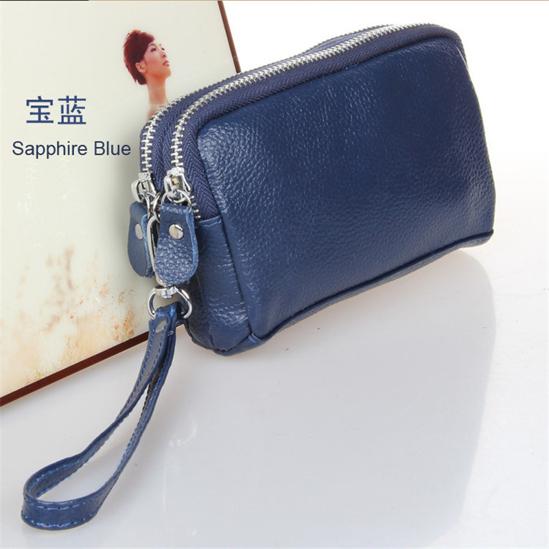 Women Men Card Holder Wallet Coin Purse Clutch Zipper Leather Small Change Bag  Free Shipping