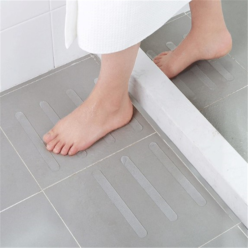 5pcs Anti Slip Bath Grip Stickers Non Slip Shower Strips Flooring Safety Tape Mat Pad 20x2cm Bathroom Accessories Dropshipping