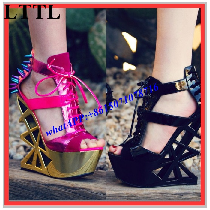 Custom Shoes Brand Designer Runway Stage Fashion Show Shoes Sandals DJ Shoes Women Nighclub Shoes High Heeled Platform Hot