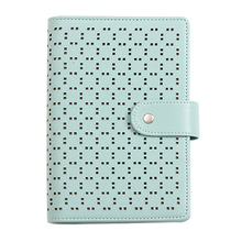 Macaroon Personal Organizer Leather Business Ring Office Binder Notebook Cute Kawaii Agenda Planner 2019 Travel Journal
