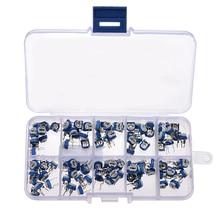 100Pcs/Box RM065 Carbon Film Horizontal Trimpot Potentiometer Assortment Kit 10 Values Variable Resistor 100 ohm-1M ohm