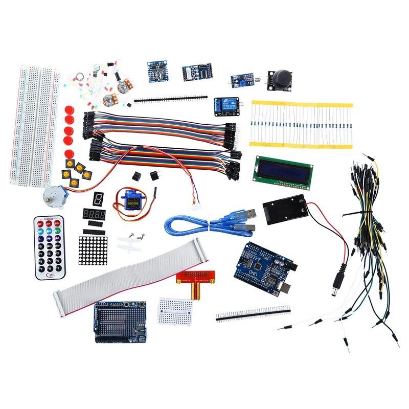 New Ultimate UNO R3 Starter Kit for 1602LCD Servo Motor RTC rtc