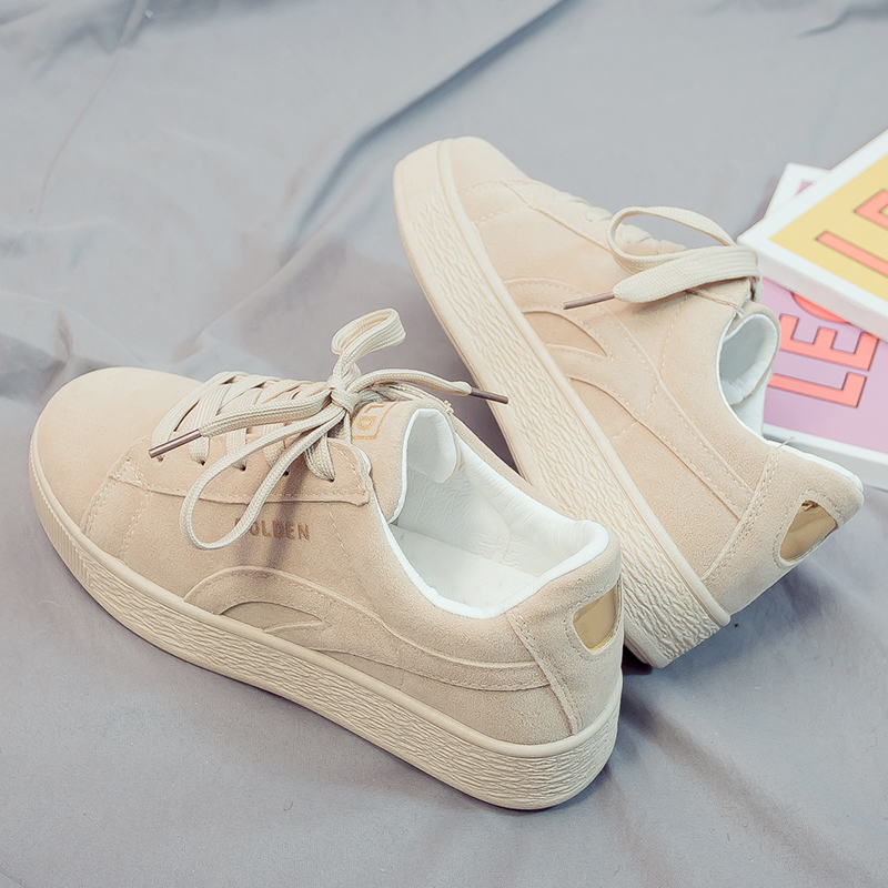 2019 Spring Women Platform Sneakers Shoes Suede Women Vulcanize Shoes Flats Female Lace Up Casual Shoes Ladies Zapatillas Mujer