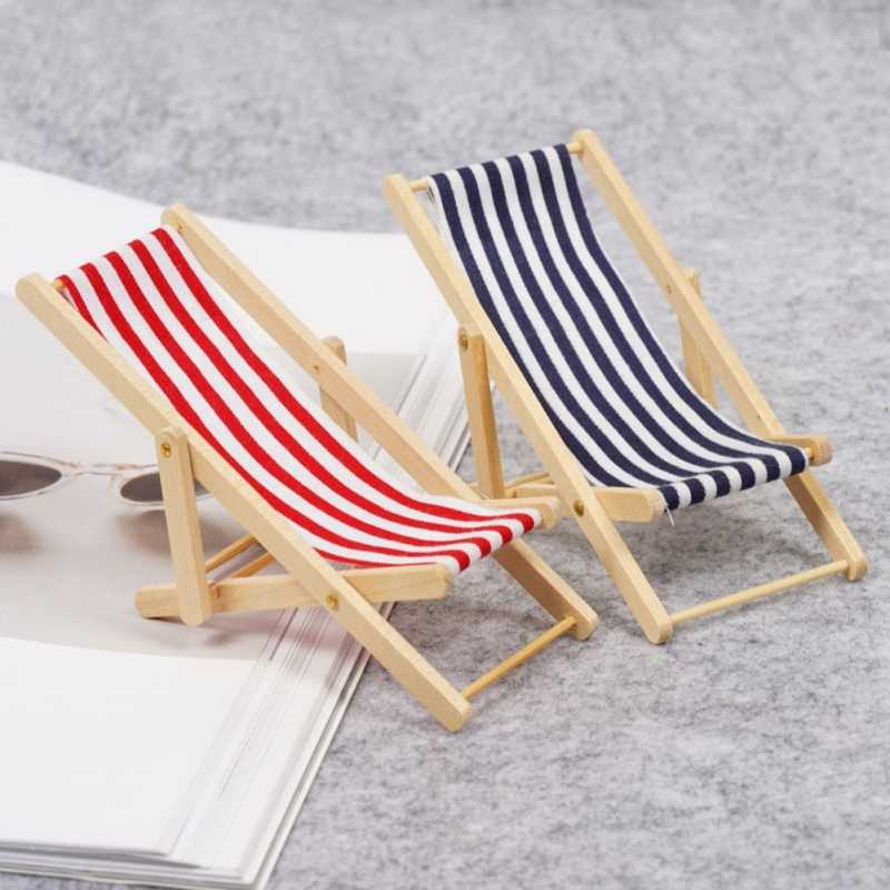 Magnificent Dongzhur Mini Beach Chair Red Blue And White Striped 1 12 Dollhouse Wooden Doll House Practical Cute Outdoor Loungers Caraccident5 Cool Chair Designs And Ideas Caraccident5Info