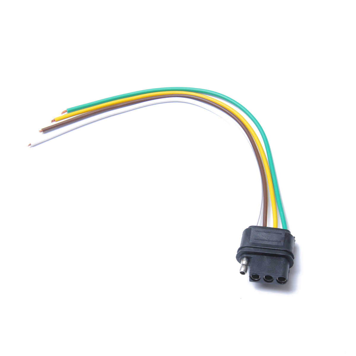 durable 4 way flat trailer wire harness extension connector socket 12v [ 1200 x 1200 Pixel ]