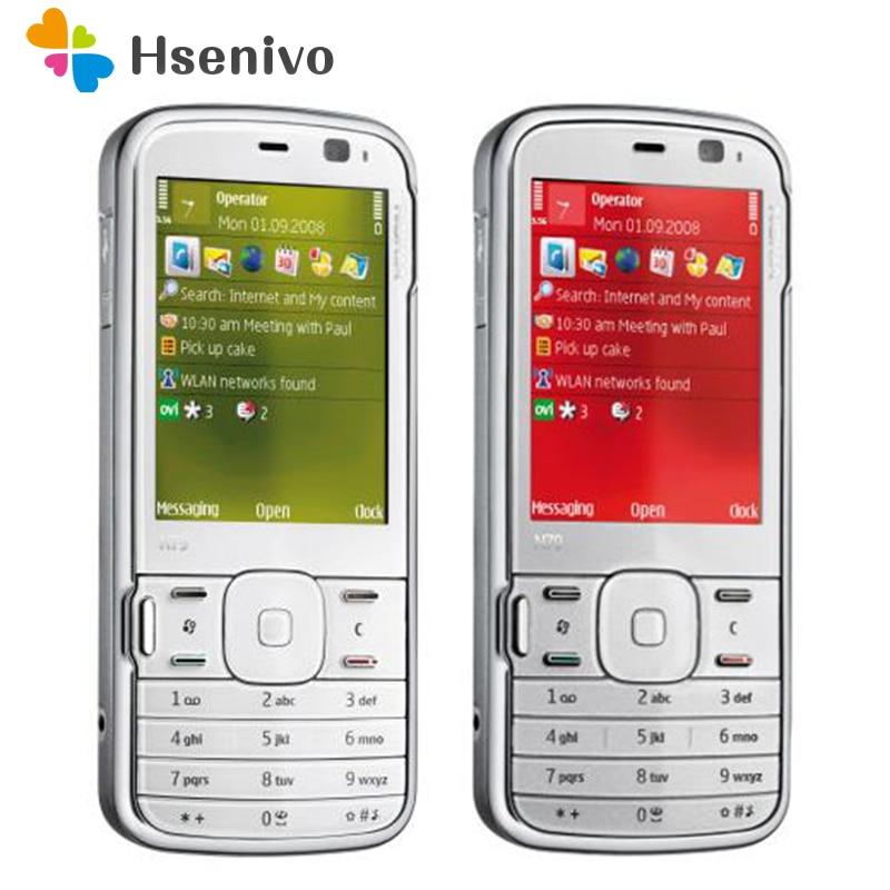 Оригинальный Nokia N79 3g сеть 5MP камера wifi gps сотовые телефоны один год гарантии отремонтированный
