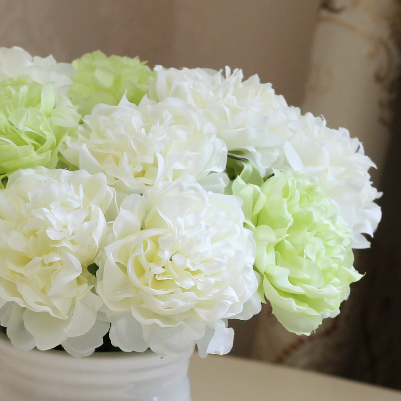 Spring decoration 1 piece Single Artificial Peony Flower Fabric silk Flowers for Wedding Christmas Party Home Decoration