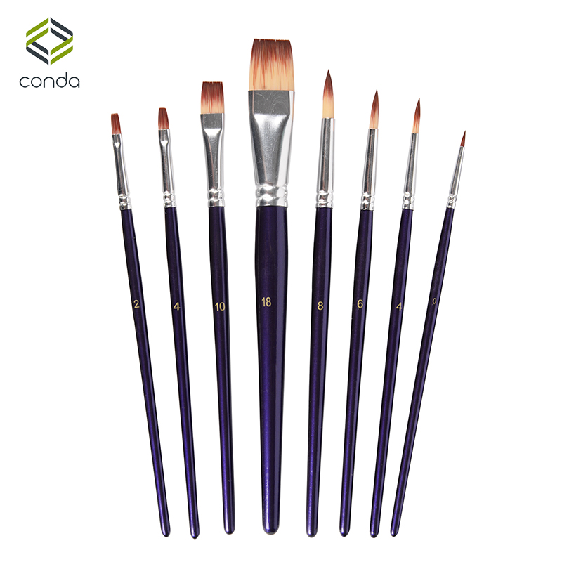 цена на CONDA Fine Paint Brush Set-6/8 Watercolor Brush Pen for Detailing & Art Painting-Acrylic Oil Artistic Acrylic Paint Art Supplies