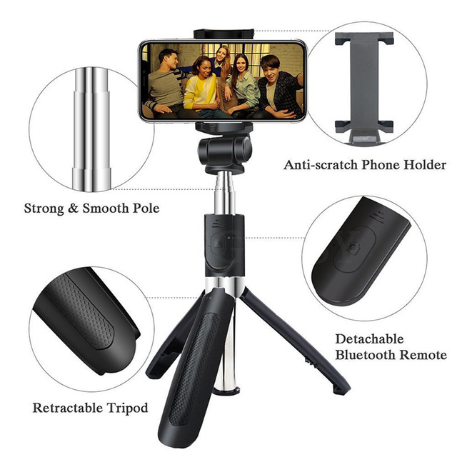 FGCLSY 3 in 1 Wireless Bluetooth Selfie Stick For iPhone Universal Mobile Phone Tripod Bracket Mini Extendable Handheld Monopod