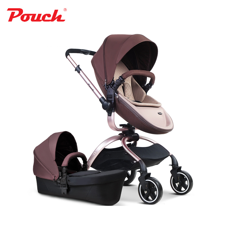 2018 New Arrival Pouch Luxury High Quality Baby Stroller 2 In 1 Strollers Leather Colors Car Seat Basket Carriage Sleeping Bask цены