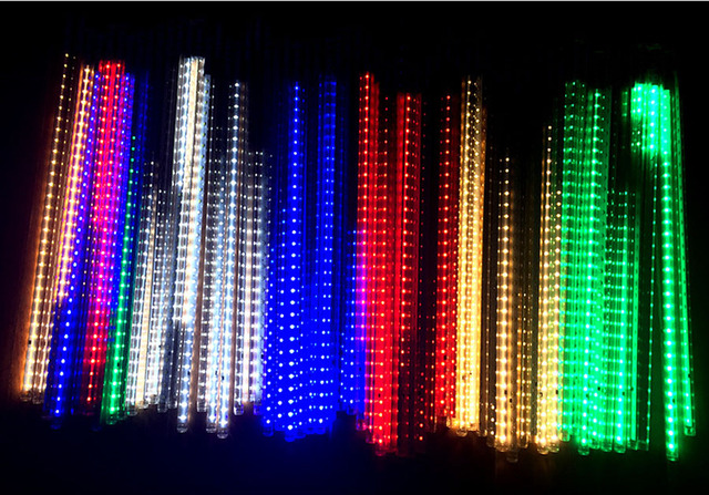 10pcssets smd2835 waterproof led christmas lights snowfall tube 50cm meteor rain led tube light